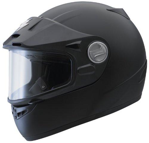 Scorpion Exo-400 Solid Matte Black X-Small Snowmobile Ready Dual Pane Helmet front-1016211