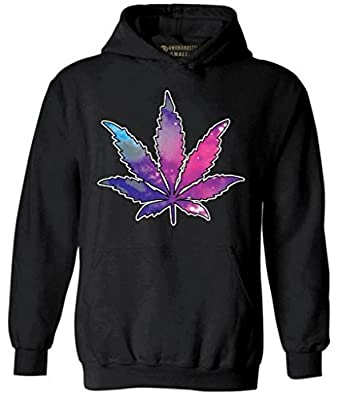 Awkwardstyles Pot Leaf Hoodie Galaxy Cannabis Dope Weed Kush Hooded Sweatshirt