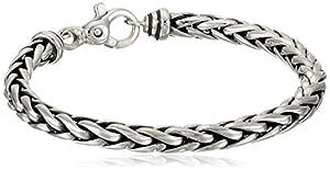 "Zina Sterling Silver Men's Woven Chain Bracelet, 8.5"""