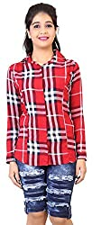 Comix Imported Cotton Fabric Full Sleeves Women Checks Printed Casual Shirt