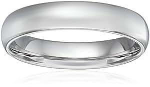 Men's Platinum Comfort-Fit Plain Wedding Band (5 mm), Size 9