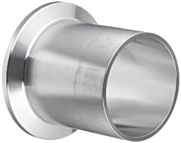 Dixon TL14AM7-150PL Stainless Steel 316L Sanitary Fitting, Automatic Weld Clamp Ferrule, 1-1/2\