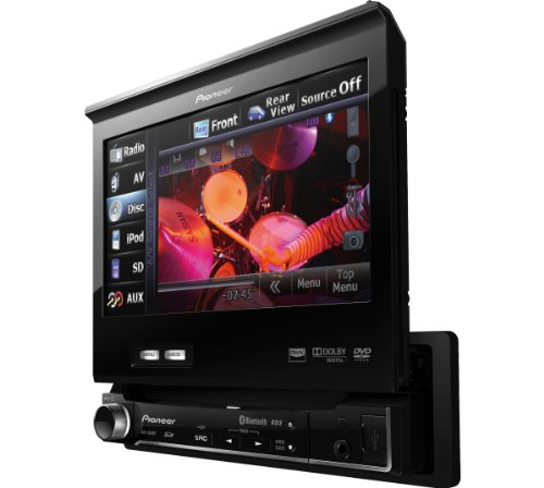 Pioneer AVH-5200BT Motorised Media Station with Bluetooth DVD/MP4/DIVX