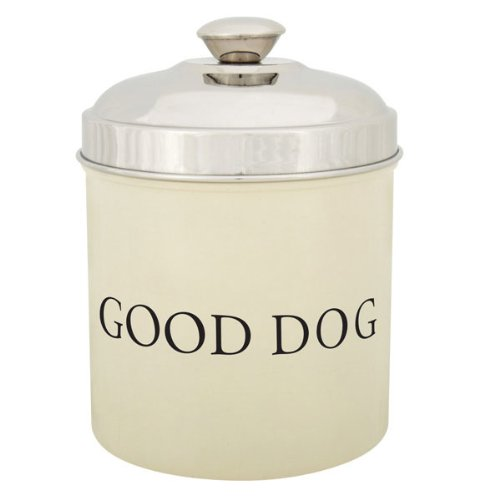 Proselect Stainless Steel Good Dog Treat 1.8-Quart Canister, Ivory front-169203