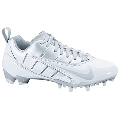 Nike Ladies Speedlax III, Lacrosse shoe White Metallic silver (size 12) by Nike