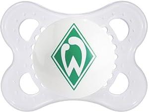 "MAM 66563910 - Original, Bundesliga, Football ""SV Werder Bremen"" 0-6 Monate, Silikon, Doppelpack"