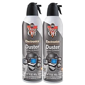 dust off disposable compressed gas duster 17 oz cans 2 pack electronics. Black Bedroom Furniture Sets. Home Design Ideas