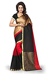 Leela Fashion Multi Art Silk Printed Saree with unstiched Blouse
