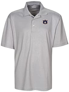 NCAA Auburn Tigers Mens Cross Hatched Embossed Polo Shirt by Oxford