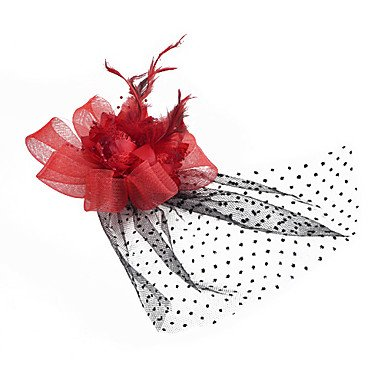 DDL-Sweet Red Feather Barrettes