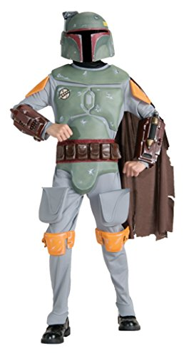 Boys Boba Fett Deluxe Kids Child Fancy Dress Party Halloween Costume