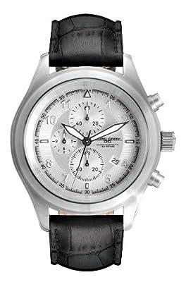 Jorg Gray JG4510 Men's Quartz Silver Dial Leather Strap Watch