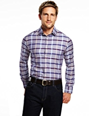 Blue Harbour Tencel® Checked Shirt