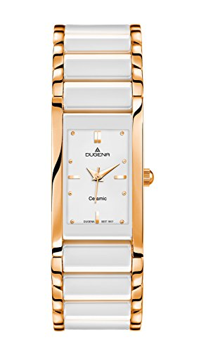 Dugena 4460590 - Reloj de pulsera Mujer, Cerámica, color Blanco