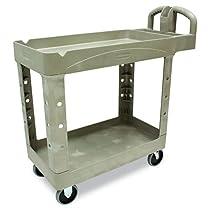 Commercial Plastic Rubbermaid Service Cart
