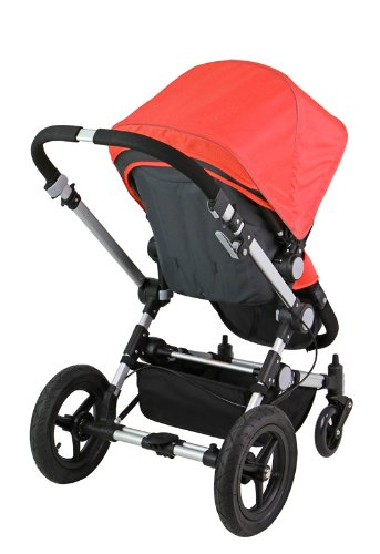 For Sale! Dream On Me Acrobat Multi Terrain Stroller and Bassinet, Hot Coral