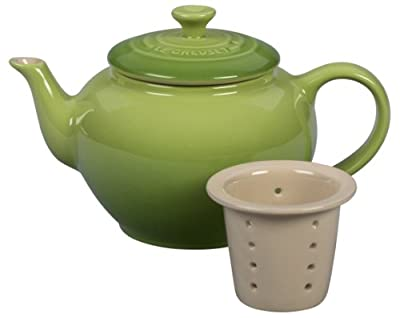 Le Creuset Stoneware Teapot with Infuser, 22-Ounce, Palm