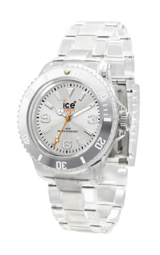 Ice-Watch Unisex CL.SR.U.P.09 Classic Collection Silver Dial Clear Plastic Watch