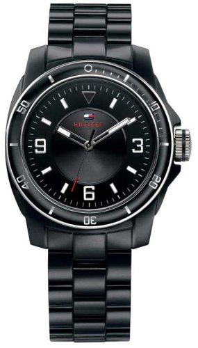 Tommy Hilfiger 1781201, Black Plastic Bracelet Watch