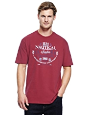 Blue Harbour Pure Cotton Nautical T-Shirt