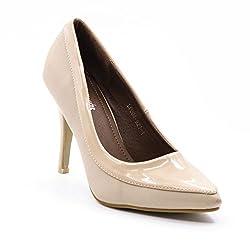 Belle Gambe Women's Formalwear Beige Pointed toe Stilletoes with Dual finish - 8C_LP004-921-1_37