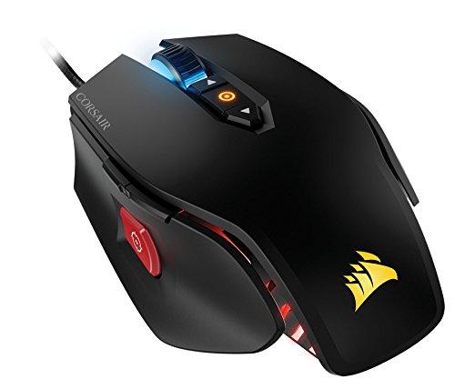 Corsair CH-9000109-EU M65 RGB Mouse da Gaming, Sensore Laser da 8200DPI, Retroilluminazione LED RGB, Nero