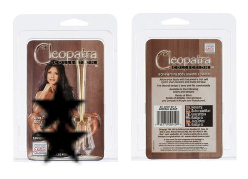 California Exotic Novelties Cleopatra Clit-Crstal Clr Body Jewelry (Non Piercing)