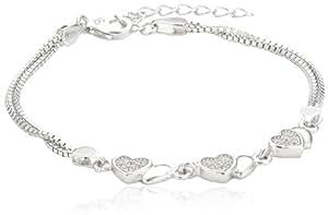s.Oliver Jewel Kinder und Jugendliche Armband 925 Sterling Silber Zirkonia 18.0 cm weiß 487436