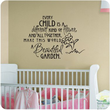 Every Child is...a beautiful garden..Nursery Room Decal Wall Quote Vinyl Love Large Nice Sticker