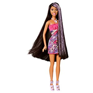 Barbie Hair Games on Com  Barbie Hair Tastic Long Hair African American Doll  Toys   Games