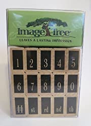 Image Tree Swanky Numbers Rubber Stamp Set