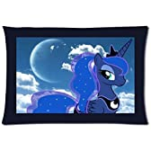 Hot Sale Custom Princess Luna My Little Pony Zippered Pillow Case 20x30 (Twin Sides Print) by Wowarts [並行輸入品]