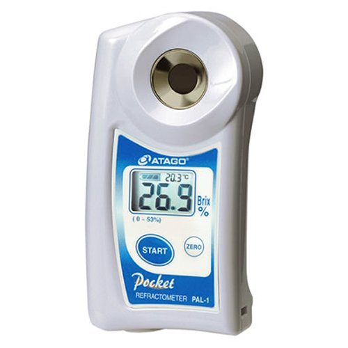 Atago 3810 PAL-1 Digital Hand Held Pocket Refractometer, 0.0 – 53.0% Brix Measurement Range