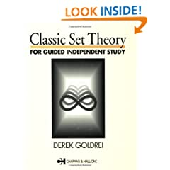Classic Set Theory: For Guided Independent Study (Chapman & Hall Mathematics)