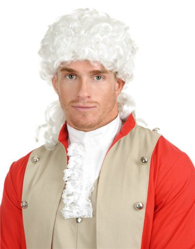 Adult White Colonial Settler English Governor Samuel Adams Wig