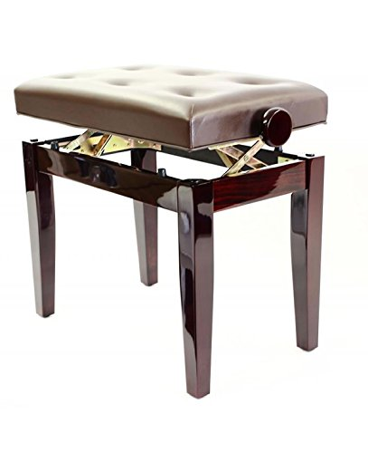 Prima Piano Bench With Cushioned Seat And Adjustable