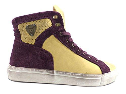 zapatos hombre ARMANI 43 EU sneakers alto amarillo / púrpura ZX798