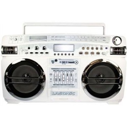 Lasonic High Performance Ghetto Blaster Music System with Bl