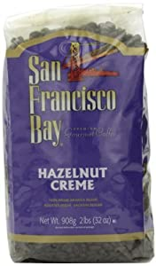 San Francisco Bay Coffee Whole Bean Hazelnut Creme Coffee, 32-Ounce Bags (Pack of 2)