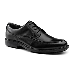 Dockers SureGrip Mens Authority Black Moc Toe Oxford Slip Resistant Work Shoes 8.5M