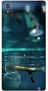 Under Water Printed Back Cover Case For Sony Xperia Z5 Premium