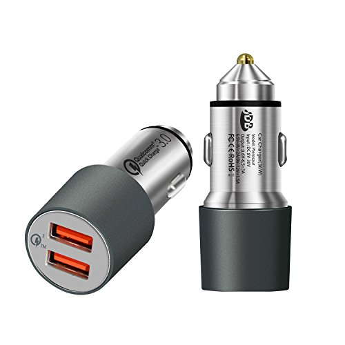 jdb-quick-charge-30-36w-dual-usb-car-charger-with-dual-qc30-ports-and-3-micro-usb-cable-gray