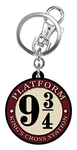 """Portachiavi in gomma di Harry Potter, con scritta in lingua inglese """"Platform 93/4"""""""