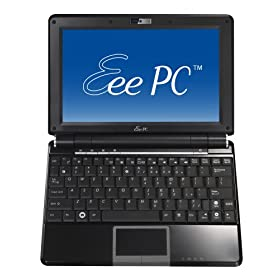 ASUS Eee PC 1000HA 10-Inch Netbook (1.6 GHz Intel ATOM N270 Processor, 1 GB RAM, 160 GB Hard Drive, XP Home, 6 Cell Battery) Fine Ebony