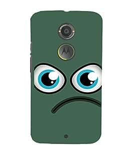 EPICCASE angry smiley Mobile Back Case Cover For Moto X 2nd Gen (Designer Case)