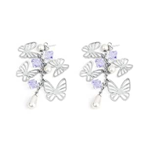 Amazon.com: Brosway Charmant stainless steel earrings with crystals