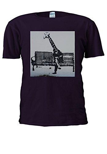 NisabellaLTD -  T-shirt - Maniche corte  - Uomo Purple Medium