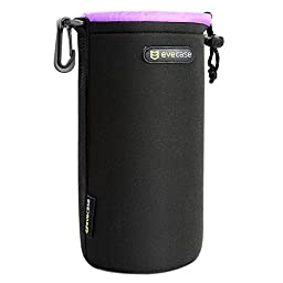 Lens Pouch Evecase Heavy Duty Neoprene Pouch Bag with Soft Flush interior For DSLR Digital Camera Lens - Large