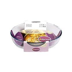 Alorno Borosilicate Glass, Oval Roaster Baking Dish, 1.5 Ltr