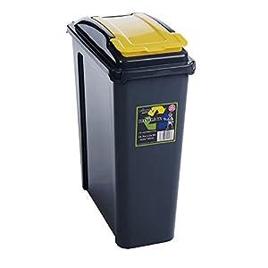 Recycle Bin Slate/Yellow 25L